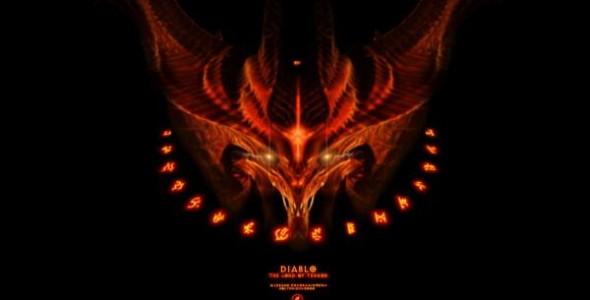Обои Diablo 3: Кровавая битва и Рунный узор
